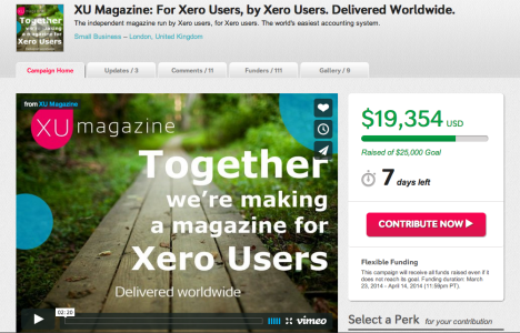 Xero Users Magazine on Indiegogo