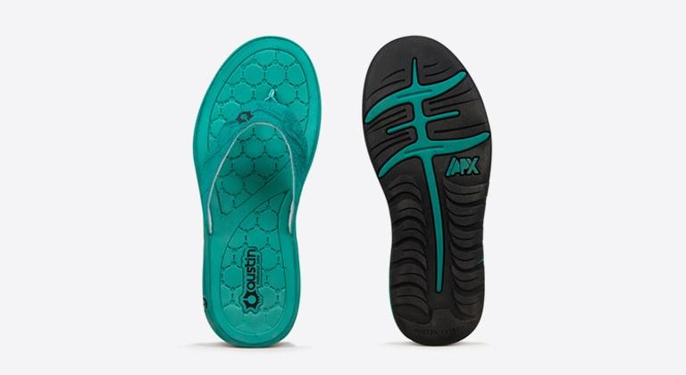 Austin Footwear Labs flip flops
