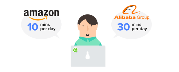 China's consumers spend on average almost 30 minutes a day on Alibaba's Taobao, nearly three times longer than the average US consumer spends on Amazon