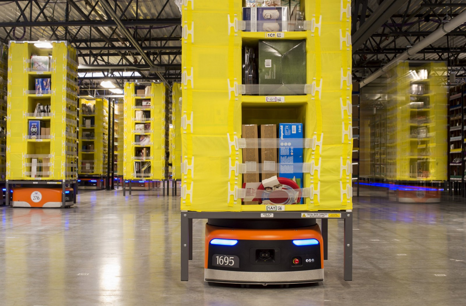 Amazon Robotics for order fulfillment