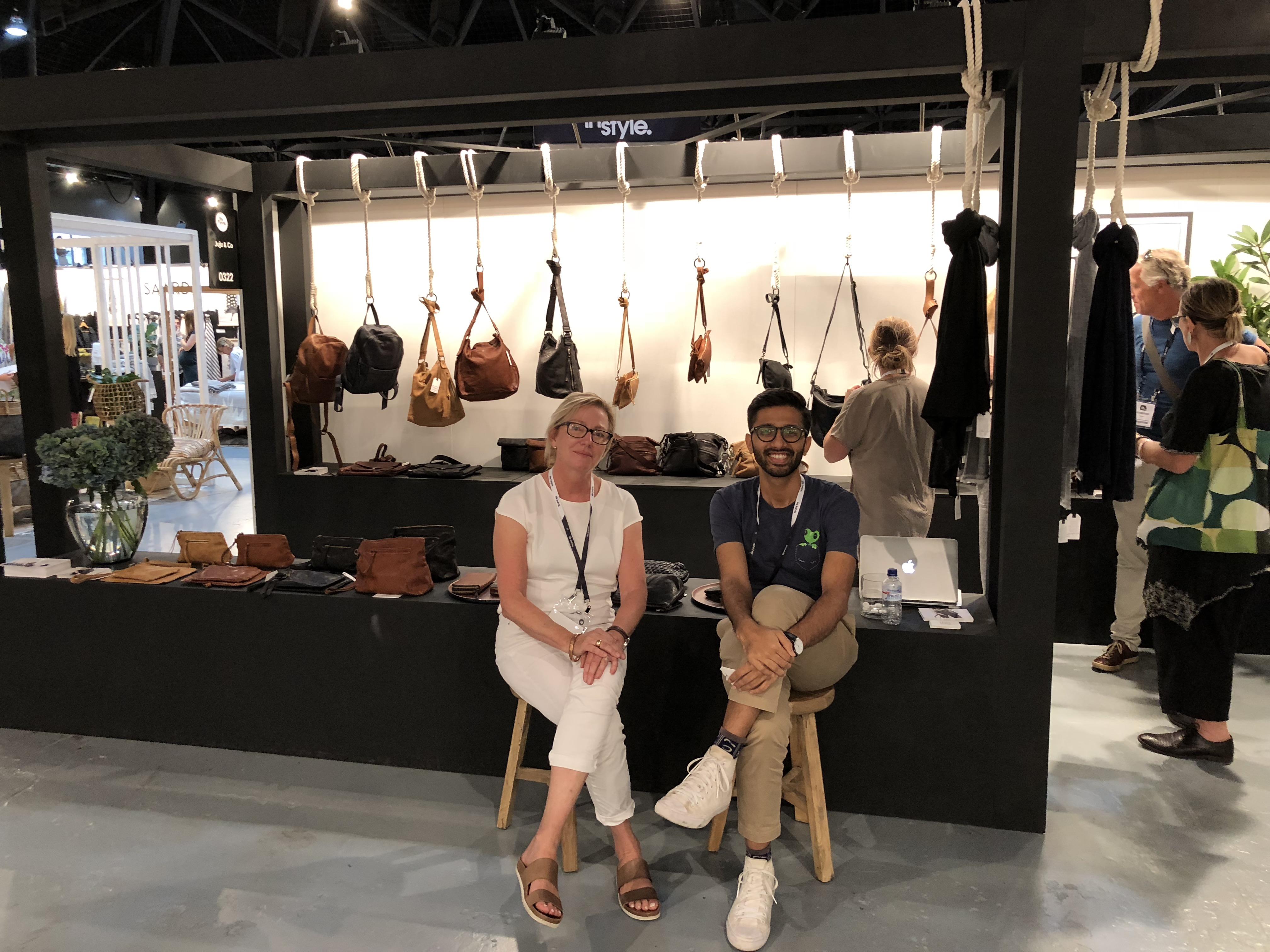 Juju & Co's Director Susan Venables with Akul from TradeGecko