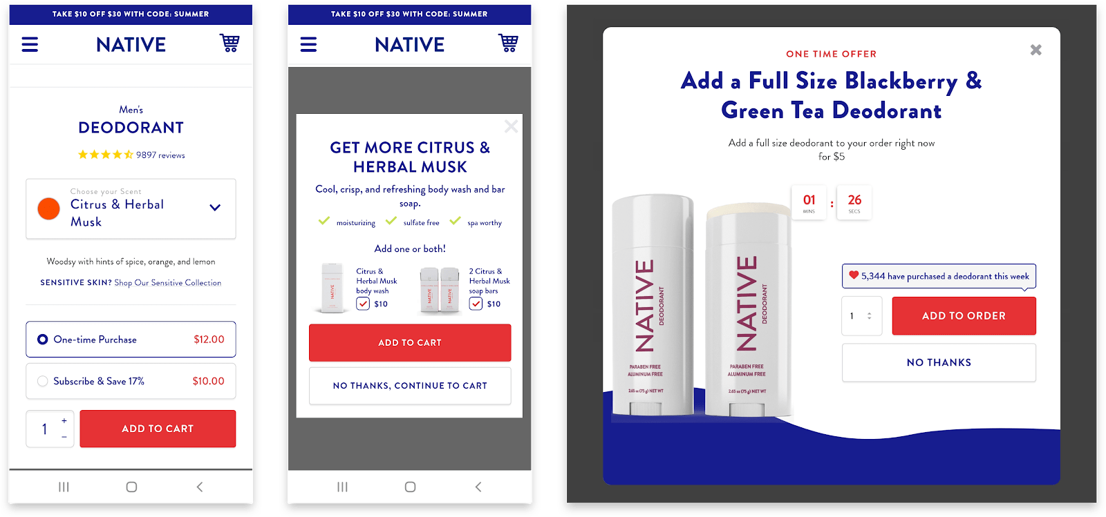 Native Cart Subscription and Upsell
