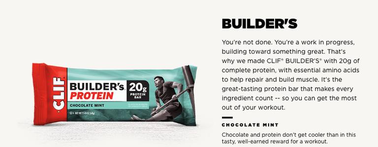 Product Description: Clif Builder's Energy Bar