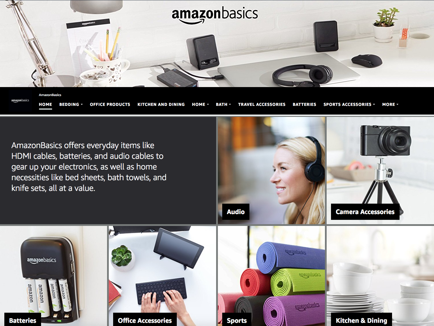 AmazonBasics Home Page
