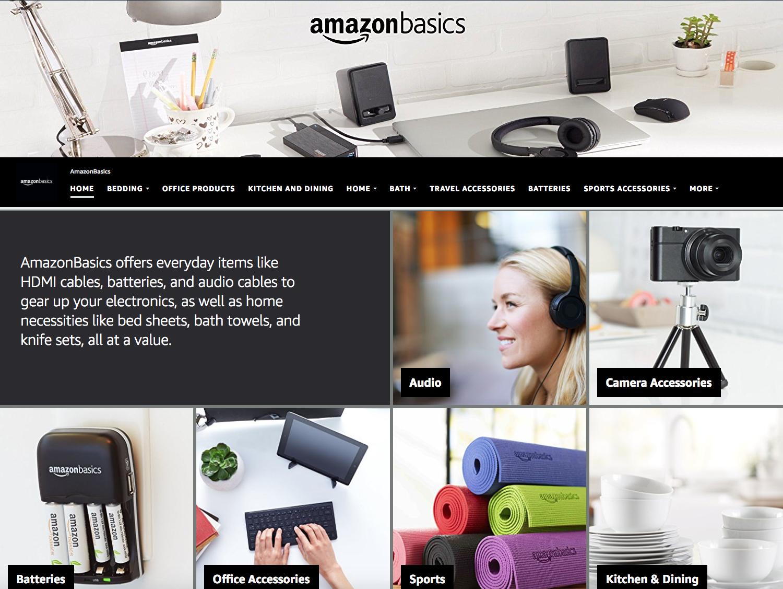 AmazonBasics Home Page
