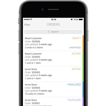 TradeGecko for Sales app