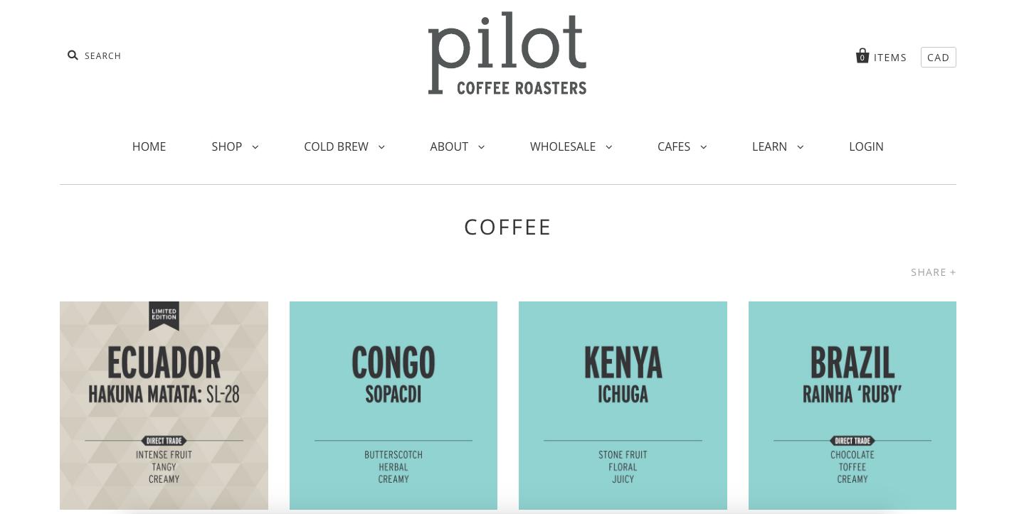Pilot Coffee + TradeGecko