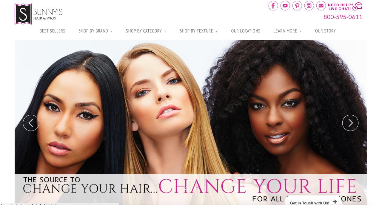 Sunny Hair Website