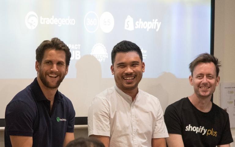 Shopify Meetup Speakers: Cameron Priest, Jackson Aw and Jason Bowman