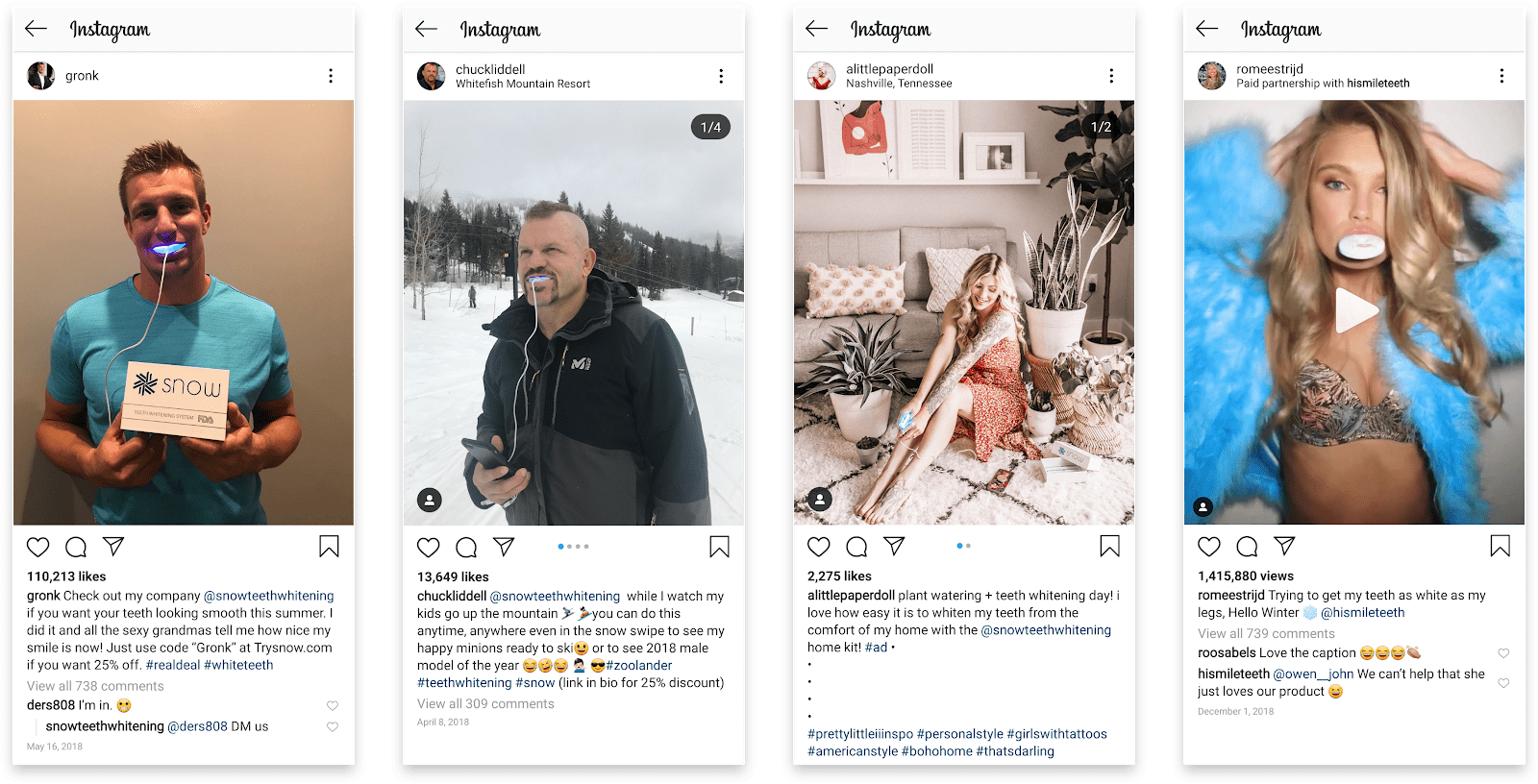 Snow Influencer Marketing