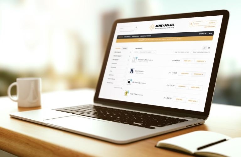 TradeGecko b2b eCommerce Store