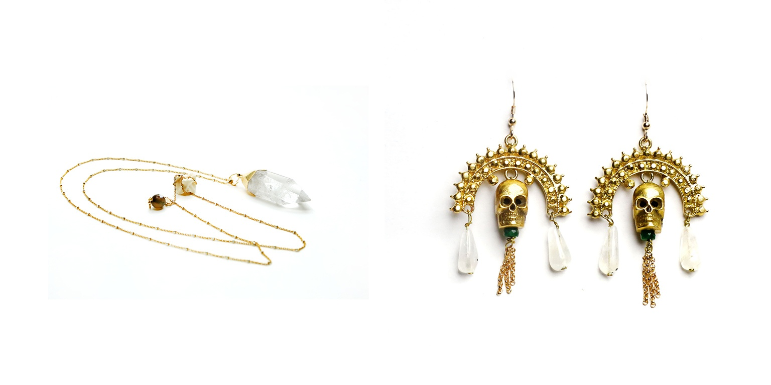 Necklace and earrings from Porter Lyons