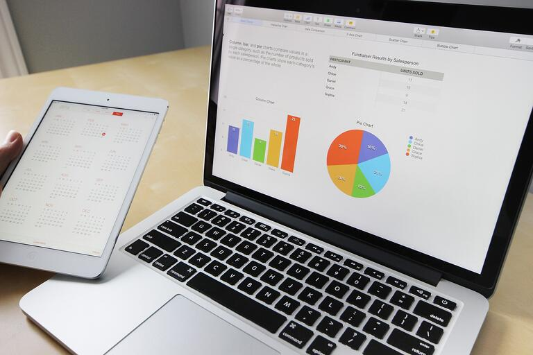 A computer and a laptop: inventory software for small business