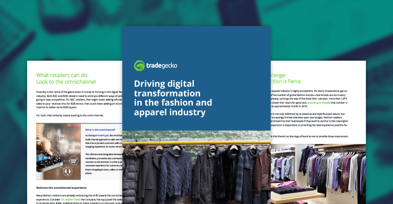 Digital transformation in the fashion and apparel industry