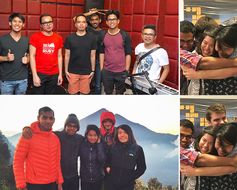 TradeGecko Mount Rinjani, Hugs and Jamming Session