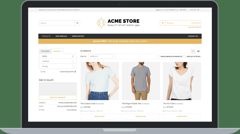 TradeGecko B2B eCommerce Platform