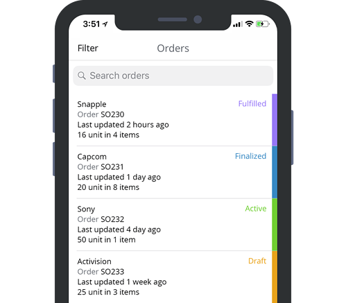 TradeGecko Mobile Order Entry App
