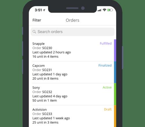 TradeGecko Mobile Order Entry App