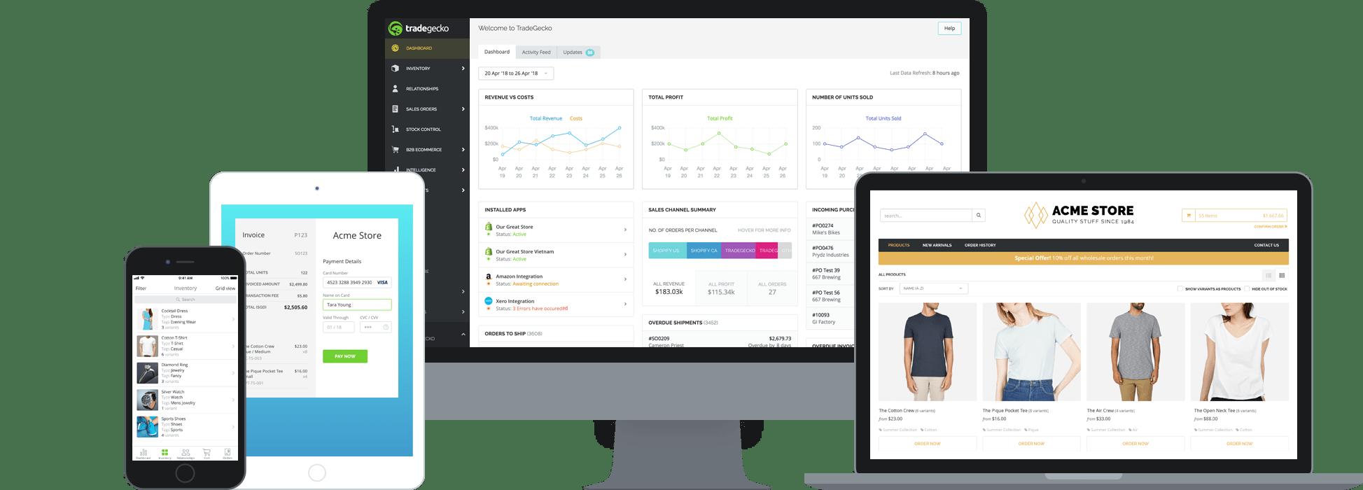 TradeGecko Pro Enterprise Inventory Management Software