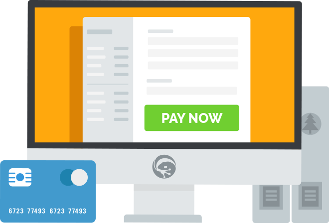 Tradegecko invoice graphic: b2b electronic payment system