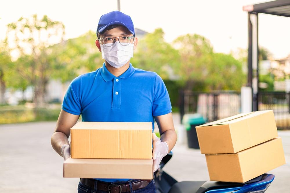 masked delivery man