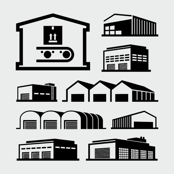 multiple warehouses illustration