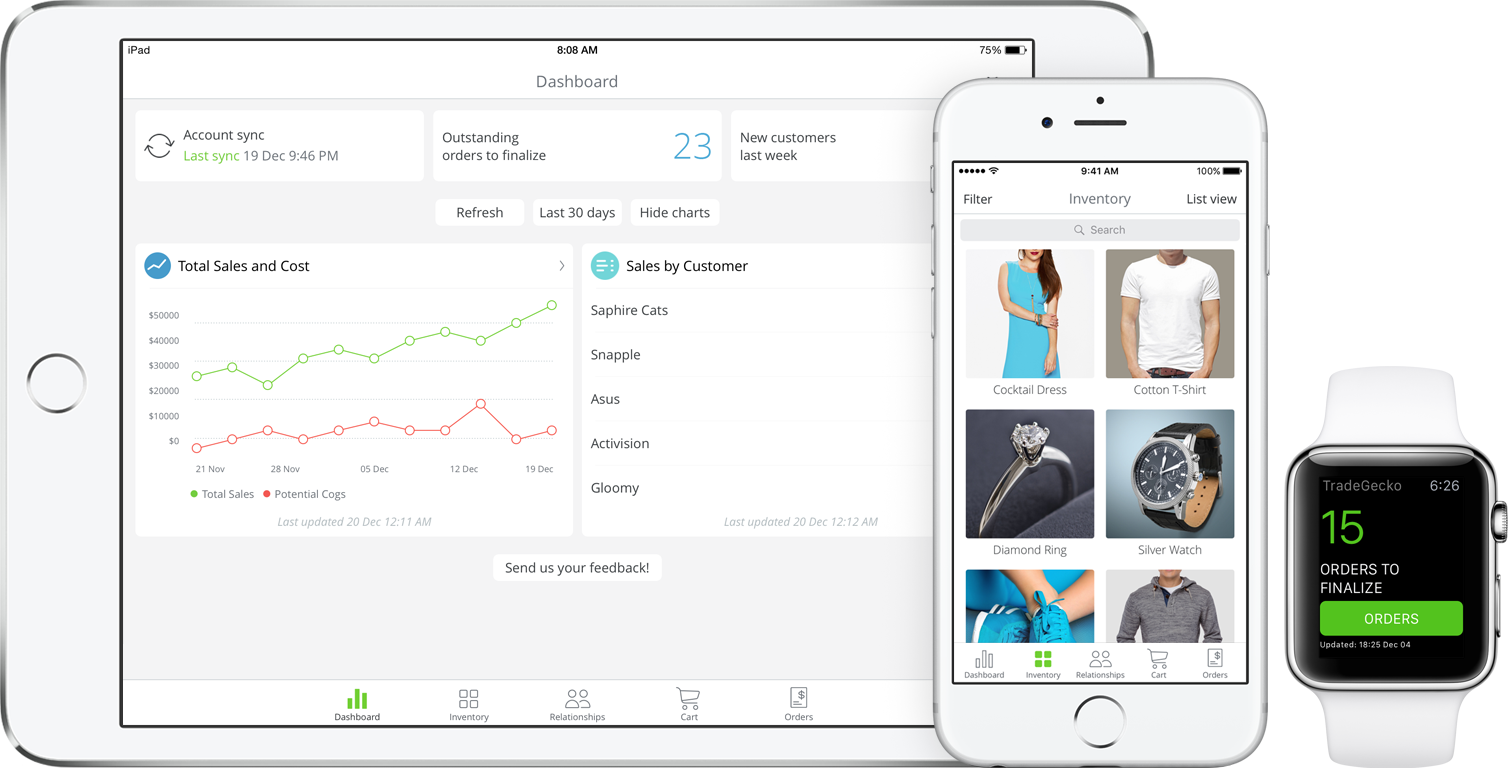 Inventory App for iPad, iPhone and Apple Watch
