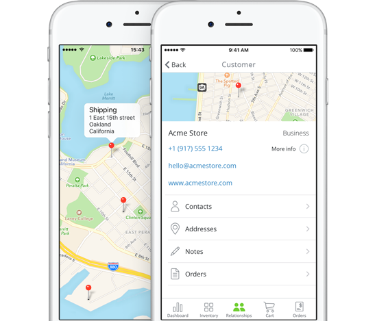 Inventory Tracking App   Maps and company reviews