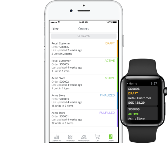 Inventory Management App for iPhone, iPad and Apple Watch
