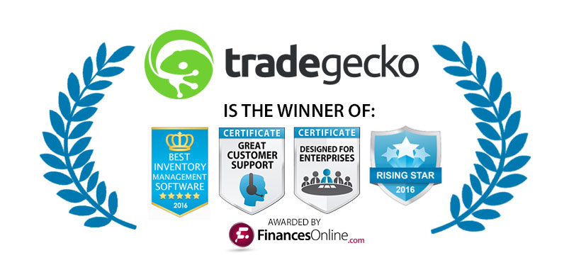 TradeGecko selected as best inventory management software