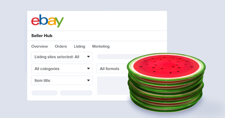 Selling watermelon plates on eBay