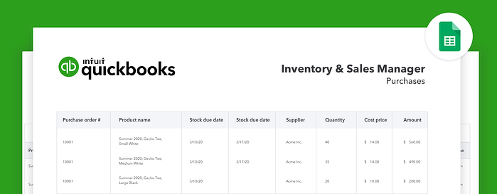 Inventory and Sales Manager-googlesheets