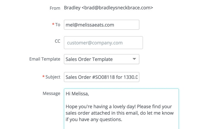 Wholesale Inventory Management Features: Email Sales Quotes