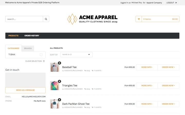 Wholesale Feature: Provide self-service to existing customers