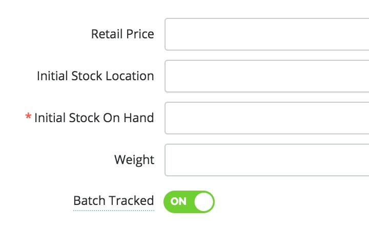 batch and expiry tracking features: create or edit batch tracked products