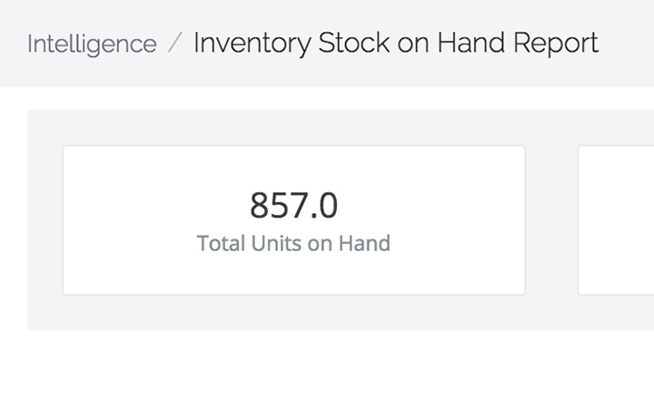 stock on hand report