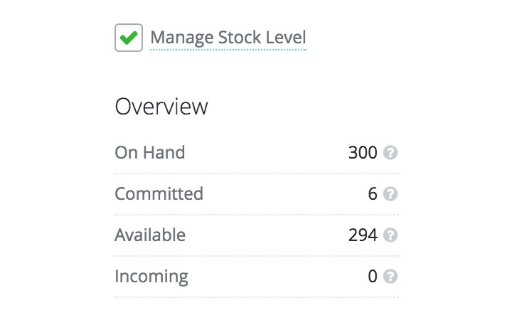 inventory control features:stock on hand management