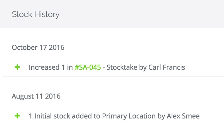 3. Product History  Inventory Stock List