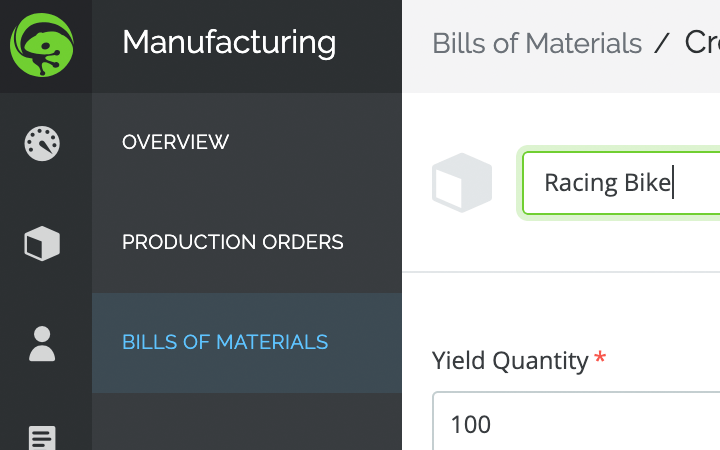 manufacturing features: bills of materials
