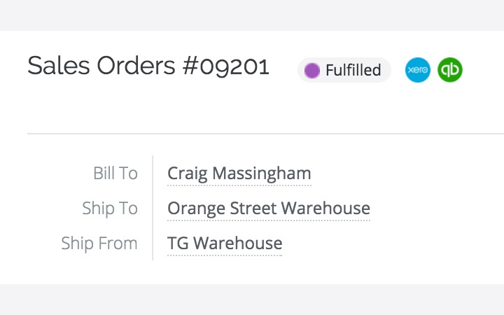 Warehouse management features:fulfill orders
