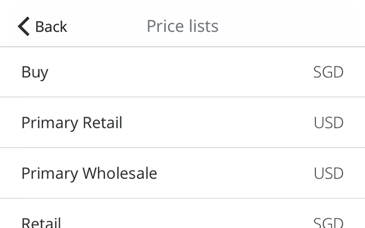 price lists management features: access custom price lists on tradegecko mobile