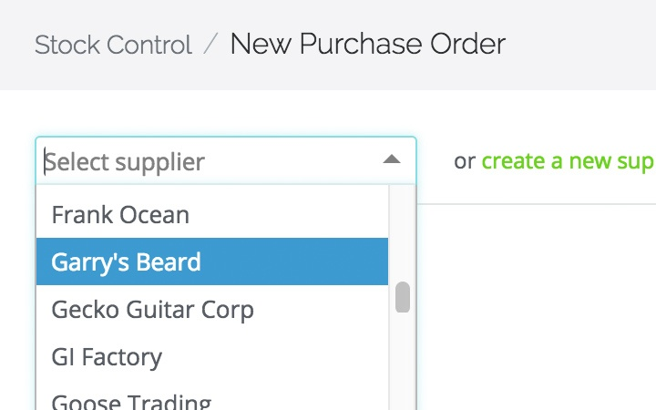 purchase order management features: create and edit purchase orders