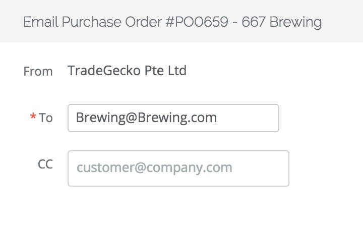 purchase order management features: email purchase orders