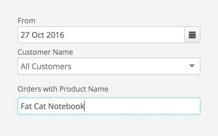 sales report features: sales History Report by Product or Variant