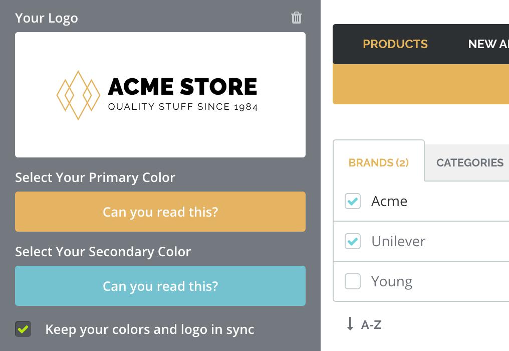 TradeGecko B2B eCommerce Platform Custom Branding