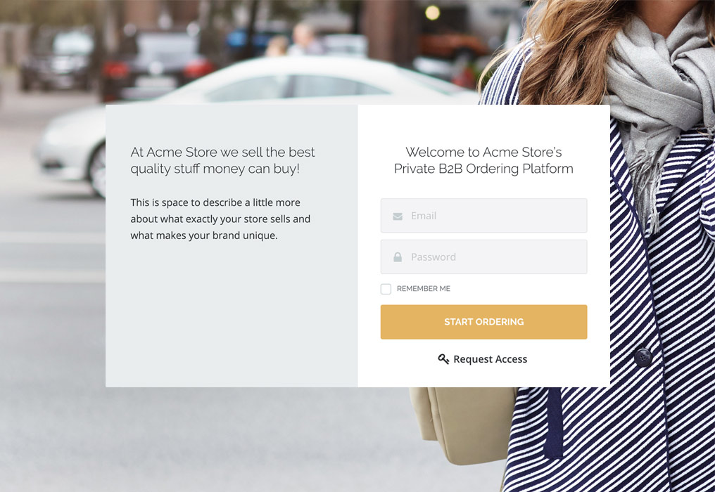 TradeGecko B2B eCommerce Platform Private Login