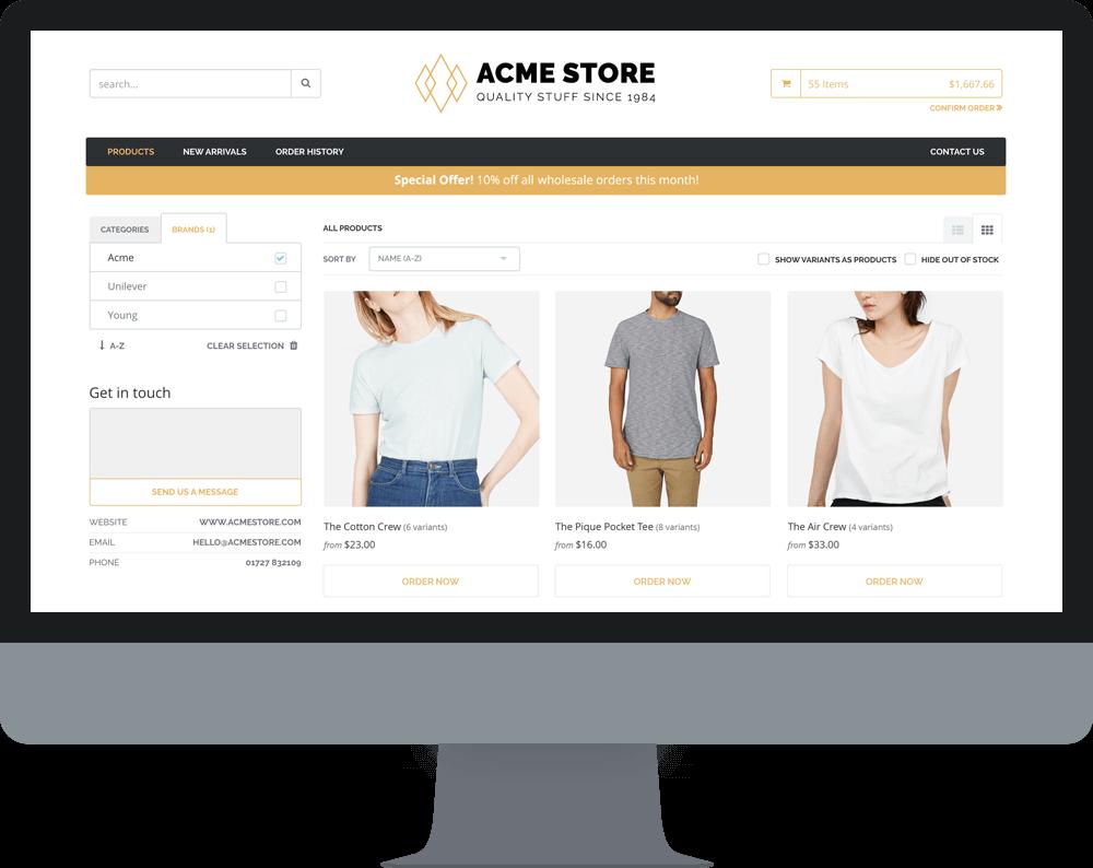 QuickBooks Commerce B2B Store