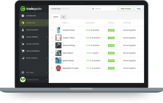TradeGecko inventory and order management