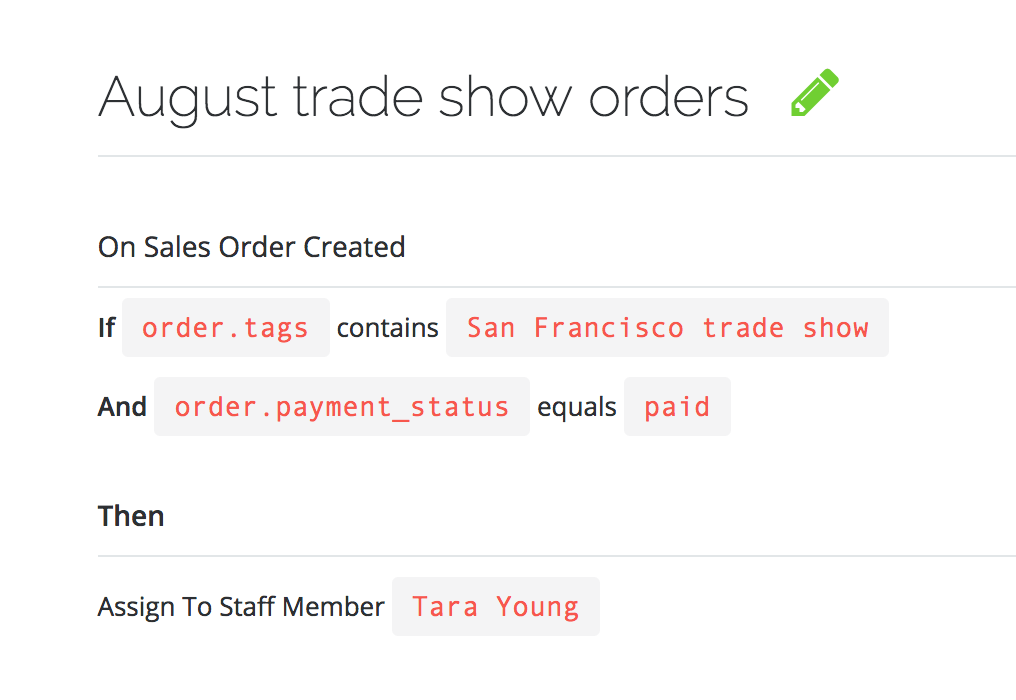 TradeGecko Connect order workflows