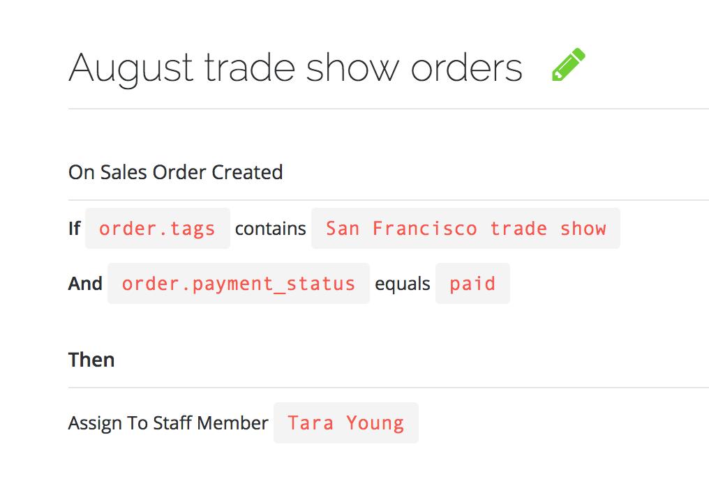 TradeGecko Connect order workflows